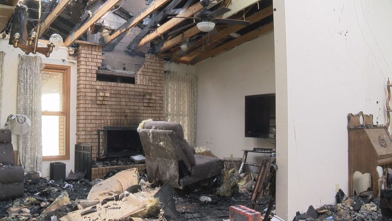 Community helps couple who's house was destroyed by Christmas fire