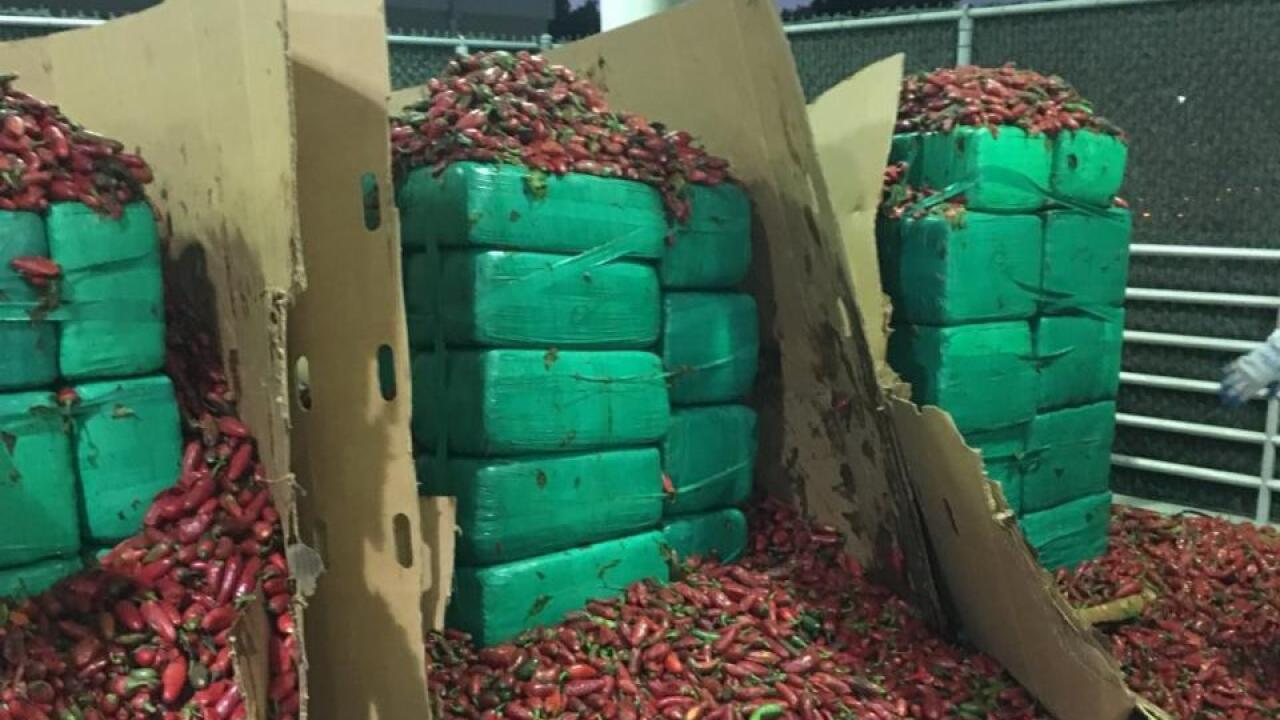 Marijuana Seized Jalapeno Peppers