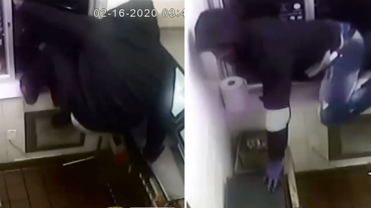 Robbery suspects climb through McDonald's drive-thru window in New York