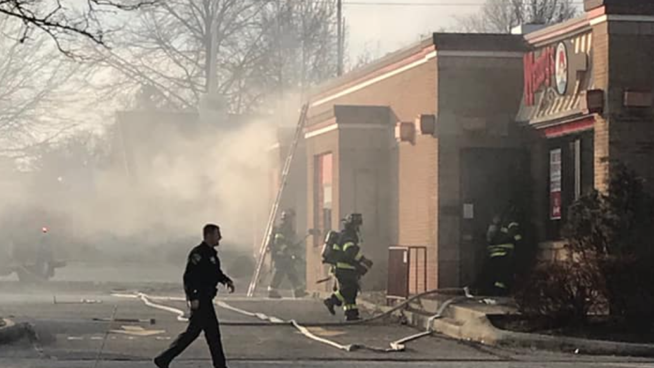 Parma Fire Department puts out Wendy's fire