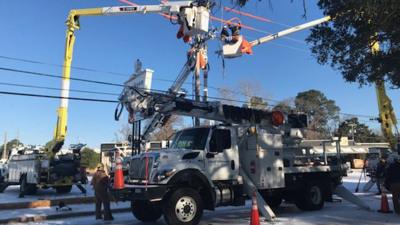 City of Tallahassee Electric Utility crews are providing power to residents in Lousiana following damage from the recent winter storm.