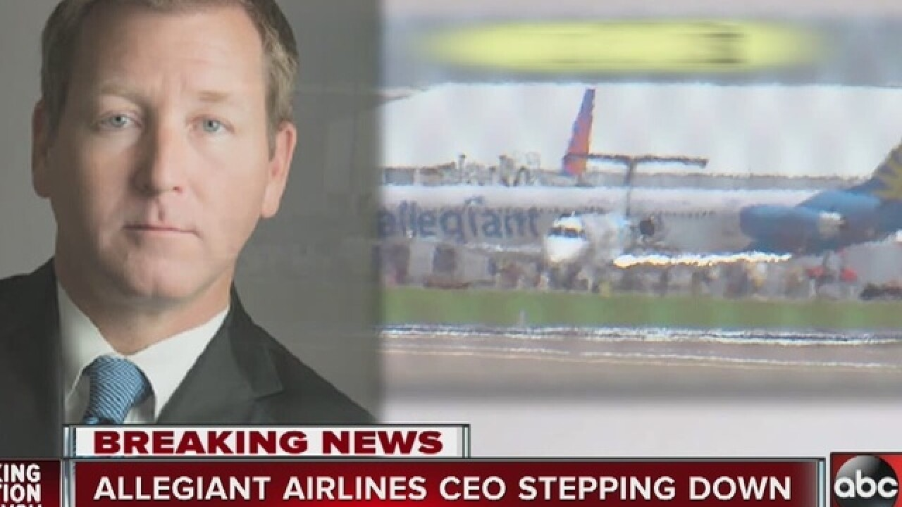 Allegiant COO stepping down amid scrutiny