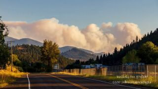 McClusky Fire east of Butte
