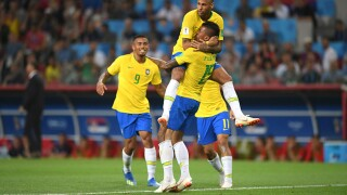 Brazil advances to round of 16 at World Cup, tops Serbia 2-0