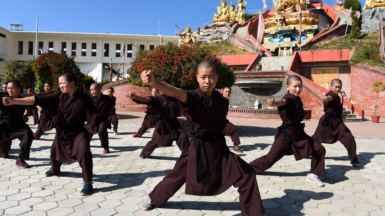 Kung Fu Nuns in Nepal boost their health in the fight for women's rights