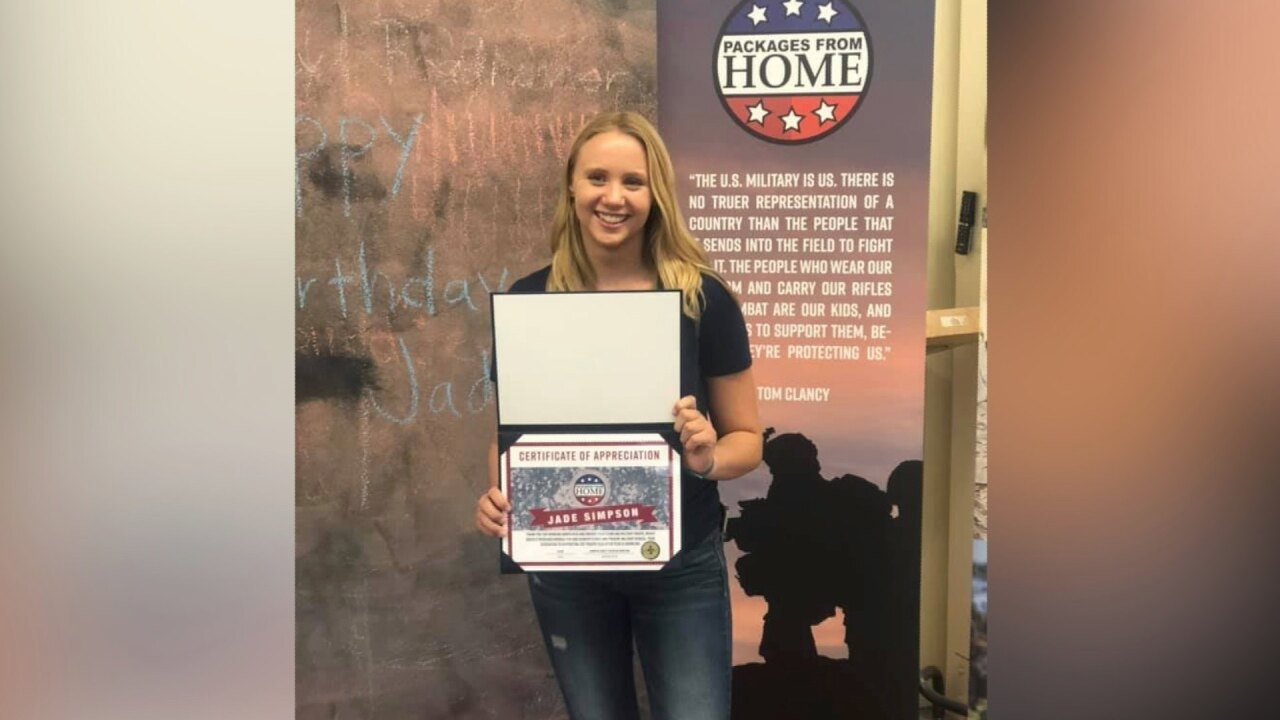 Girl born on 9/11 grows up donating boxes to troops