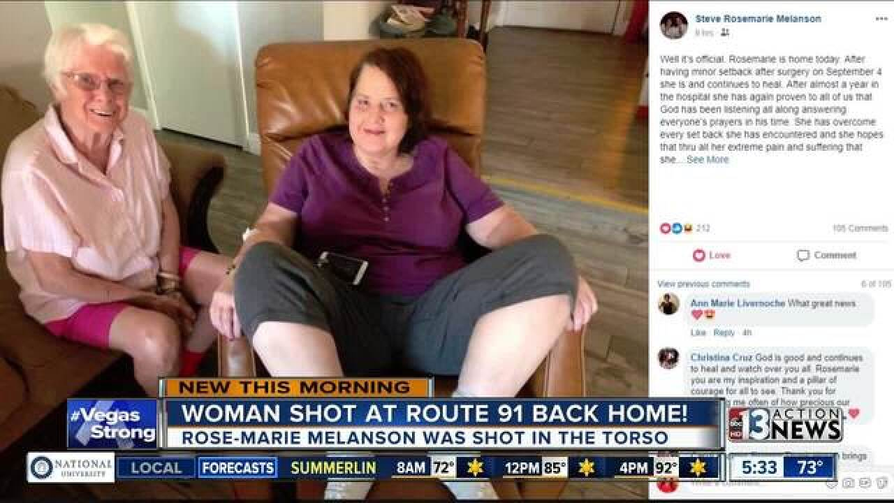 Vegas shooting survivor goes home a year later