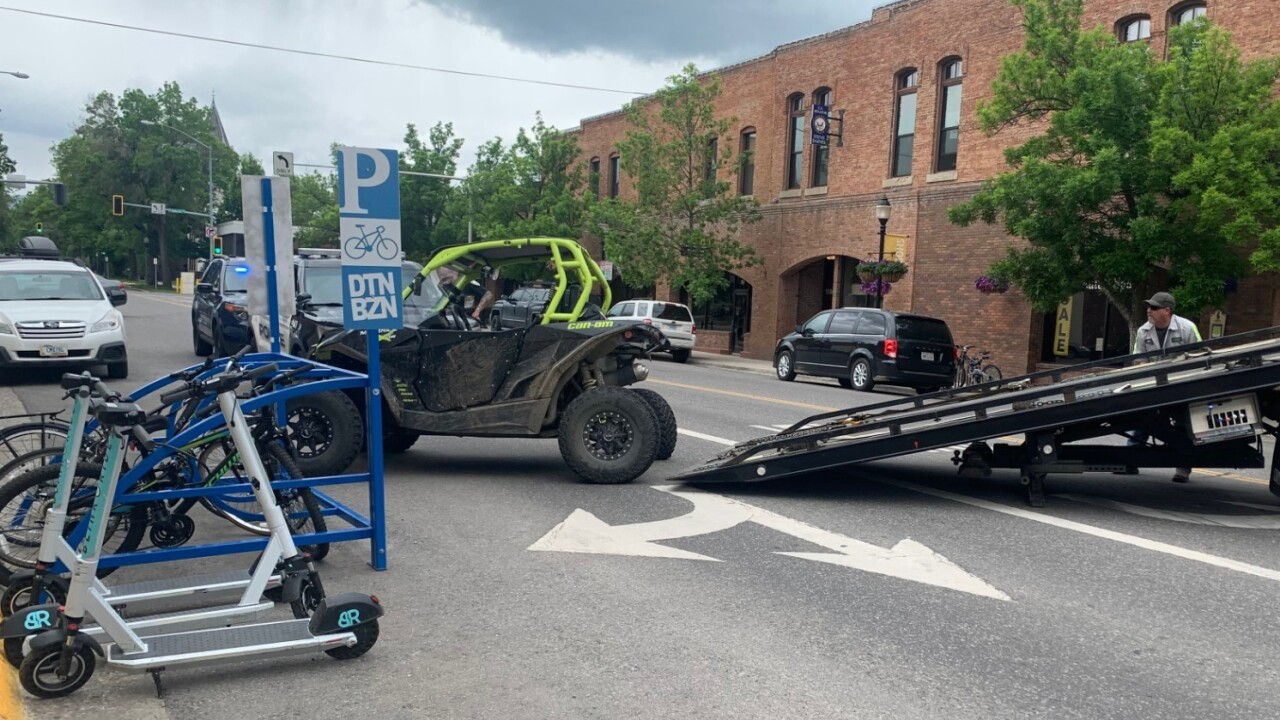 Off-road vehicle hits multiple vehicles in downtown Bozeman, one arrested