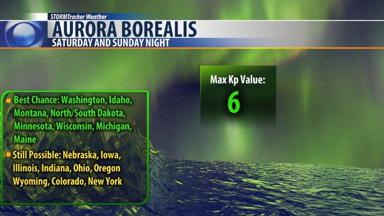 Northern Lights may be visible in Montana this weekend