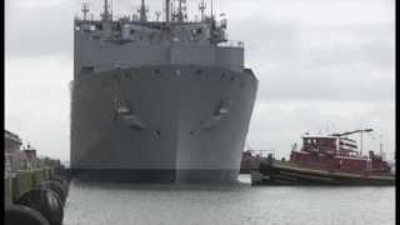 Navy sets Sortie Condition Alpha, orders all ships in Hampton Roads to sail by Saturday morning