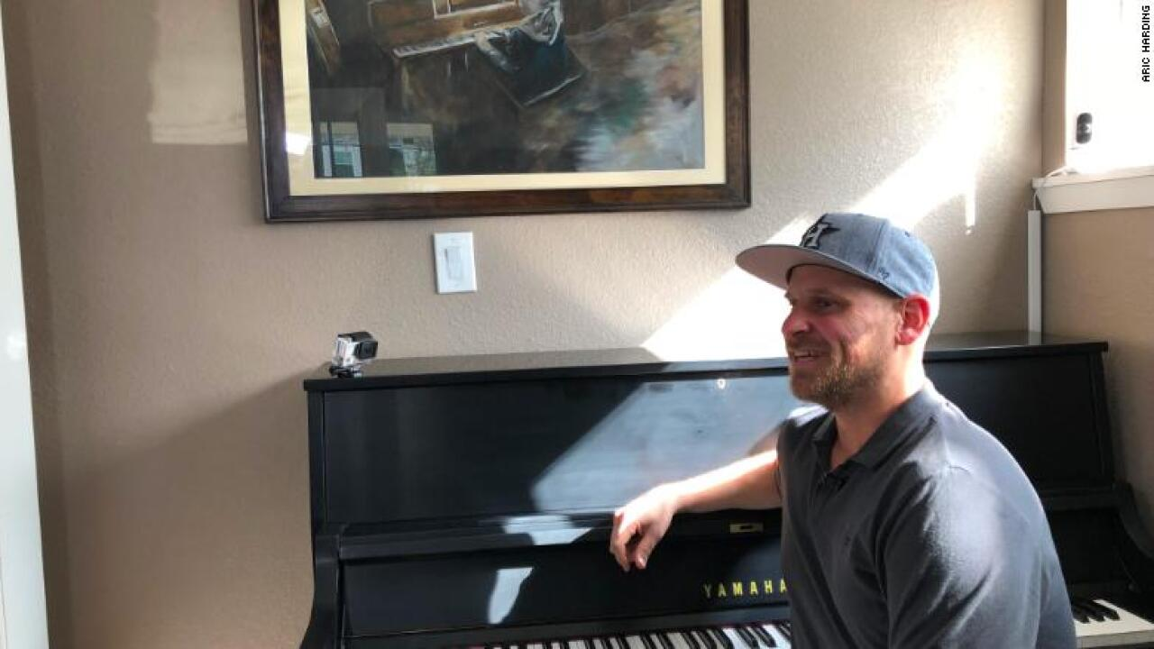 Dad gets new piano after Hurricane Harvey