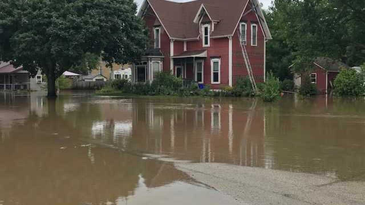 Small Dane Co. village slammed by record floods