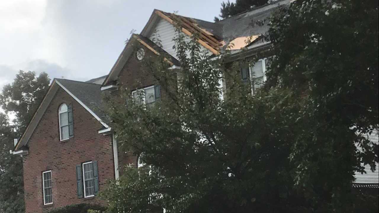 Neighbors report significant storm damage in Chesterfield Countyneighborhood