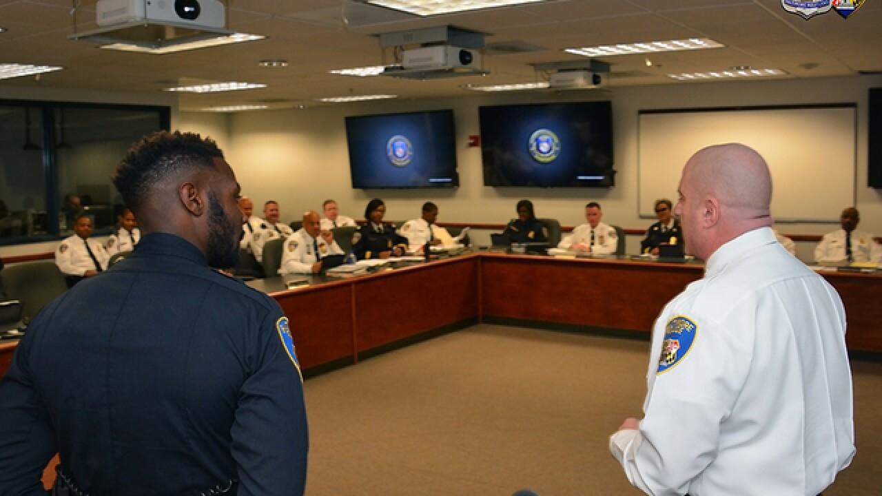 Officer recognized for car theft suspect arrest