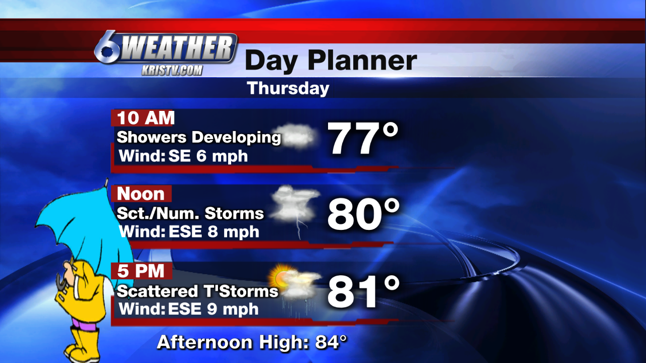 6WEATHER Thursday Day Planner