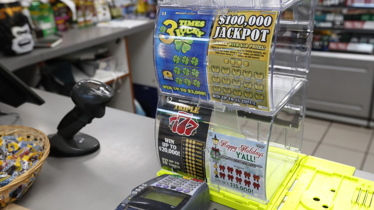 Mississippi men accused of gluing winning numbers onto scratch-off lotto ticket