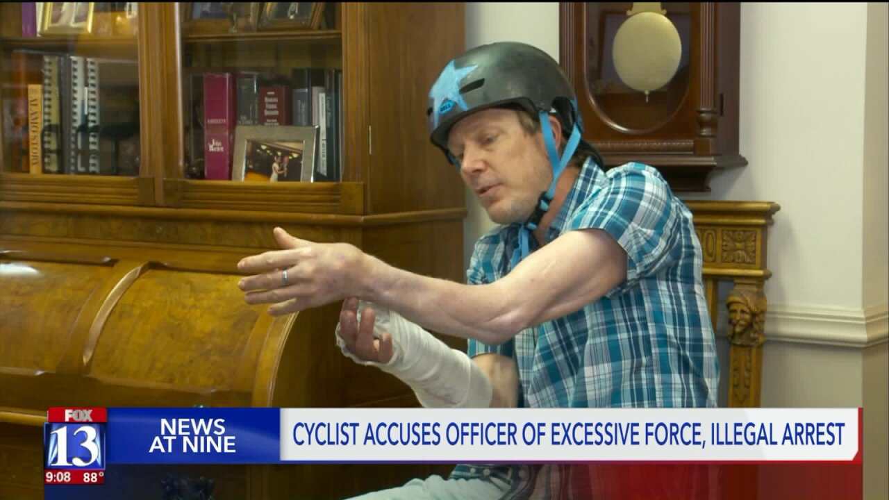 Cyclist says Unified officer hit him because of a misunderstanding
