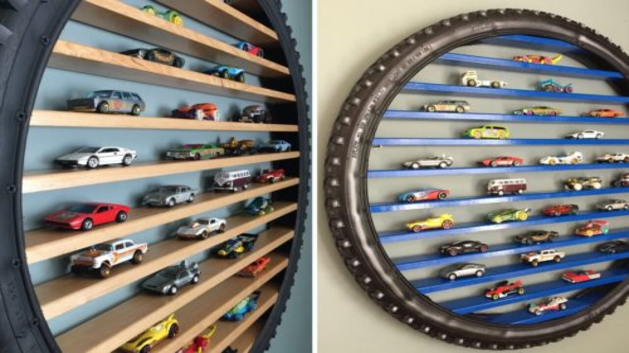 This Etsy Store Sells Shelves For Hot Wheels Made Out Of Tires