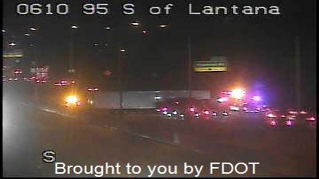 BREAKING: Jackknifed semi truck on I-95