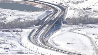 Snowy roads on April 20 2021