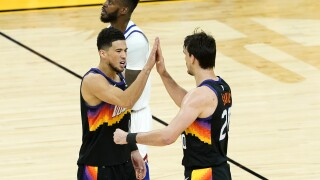 Chris Paul had 17 points and 15 assists without a turnover, Devin Booker added 18 points and 10 rebounds and the Phoenix Suns routed the Denver Nuggets 123-98 on Wednesday night to take a 2-0 lead in the Western Conference semifinals. AP photo.
