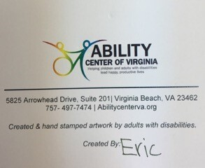 Photos: Virginia Beach Ability Center looking to thank anonymous donor who gave 4,000 stamps to start artprogram
