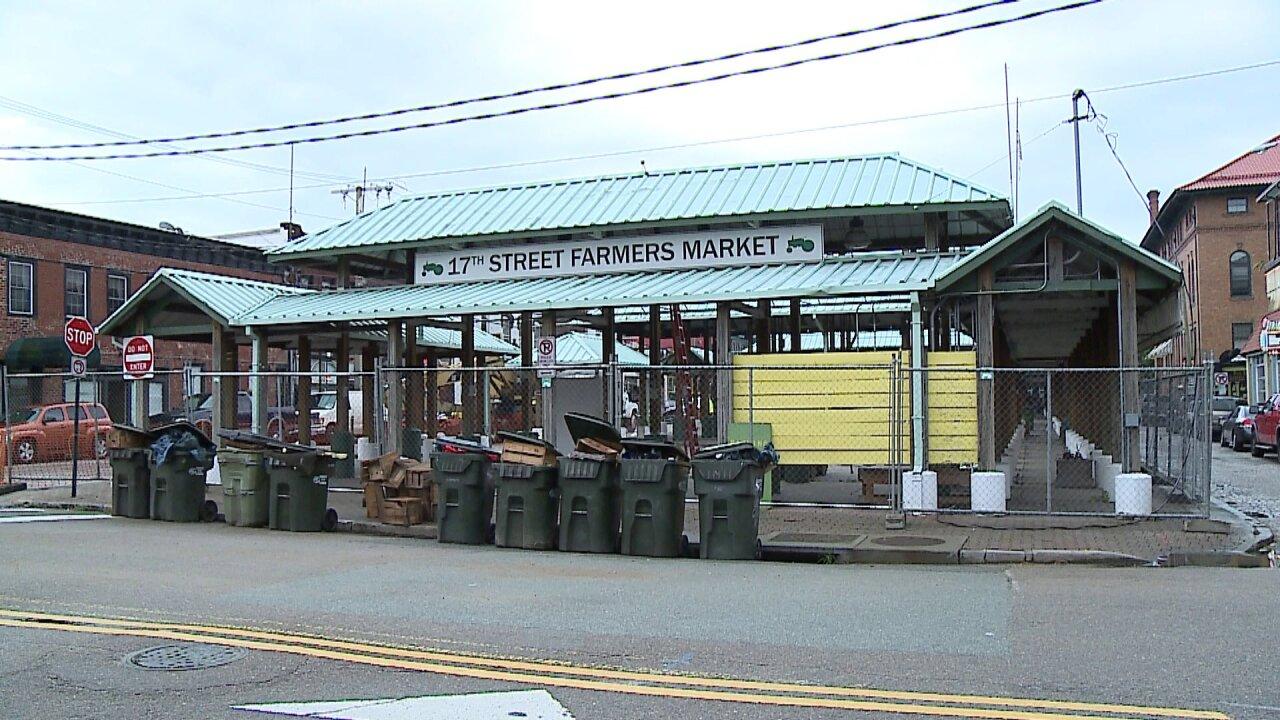 Demolition underway at the 17th Street Farmers'Market