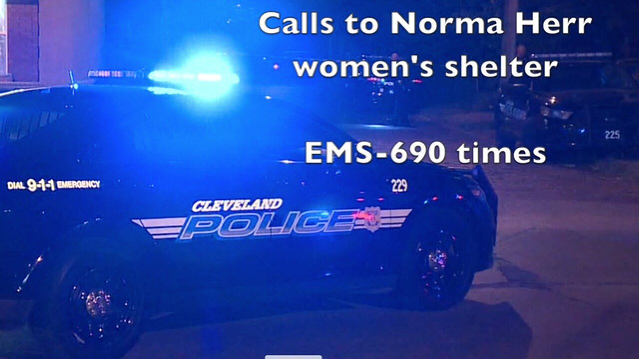 CLE safety forces: 1300 calls to women's shelter