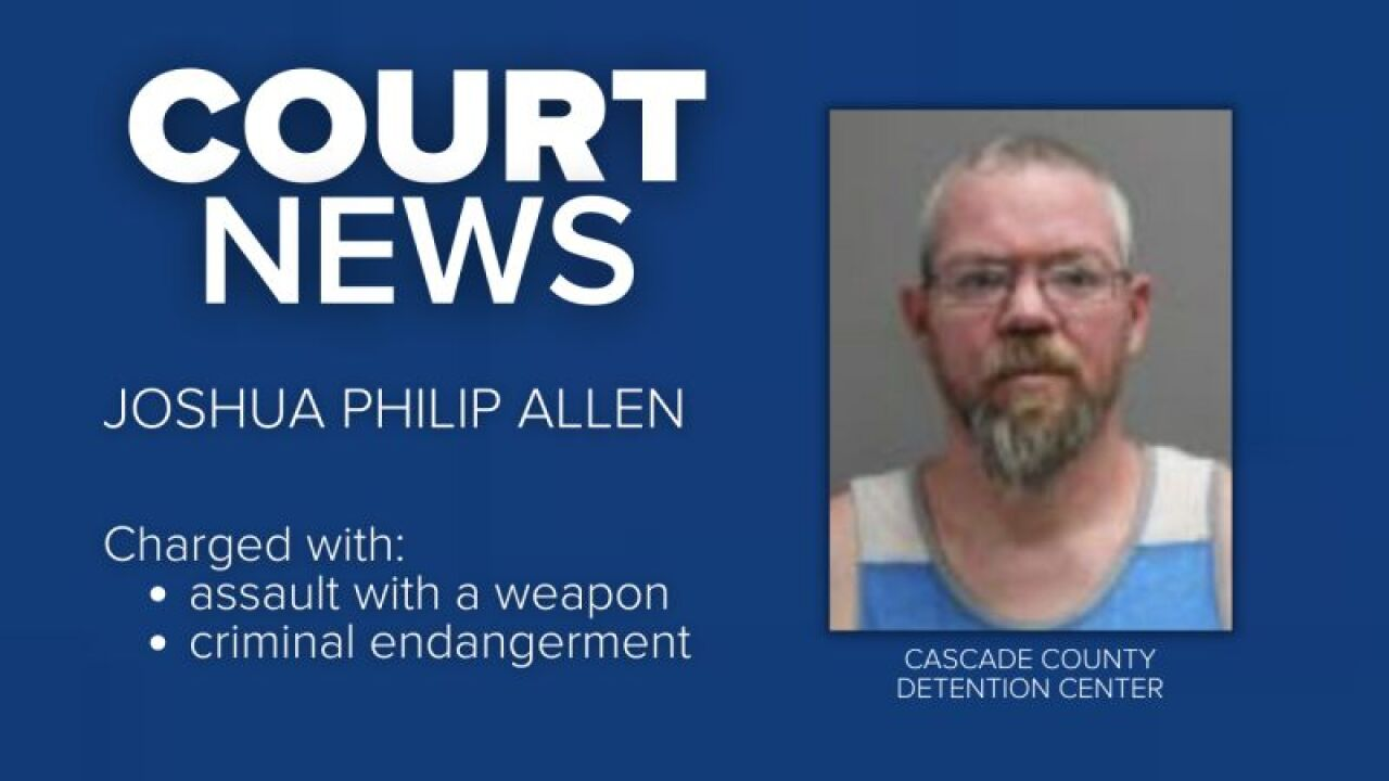 Joshua Philip Allen has been charged with assault with a weapon and criminal endangerment