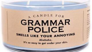 This Fun Scented Candle Is For The 'grammar Police' In Your Life