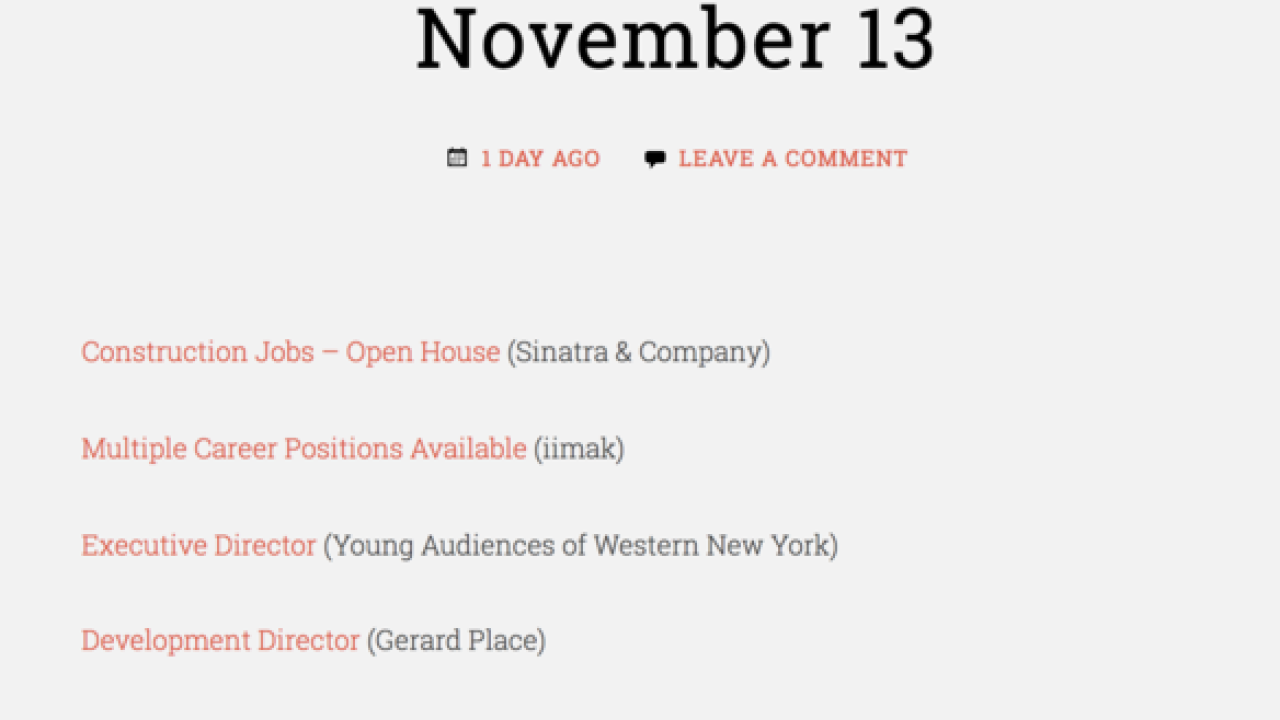 Check out new site for real-time job postings in WNY