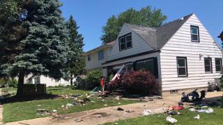 House damage after crash