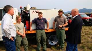 Gianforte Daines Firefighters