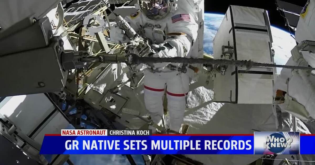 Who Knew: Record breaking astronaut, Christina Koch, reflects on West Michigan upbringing