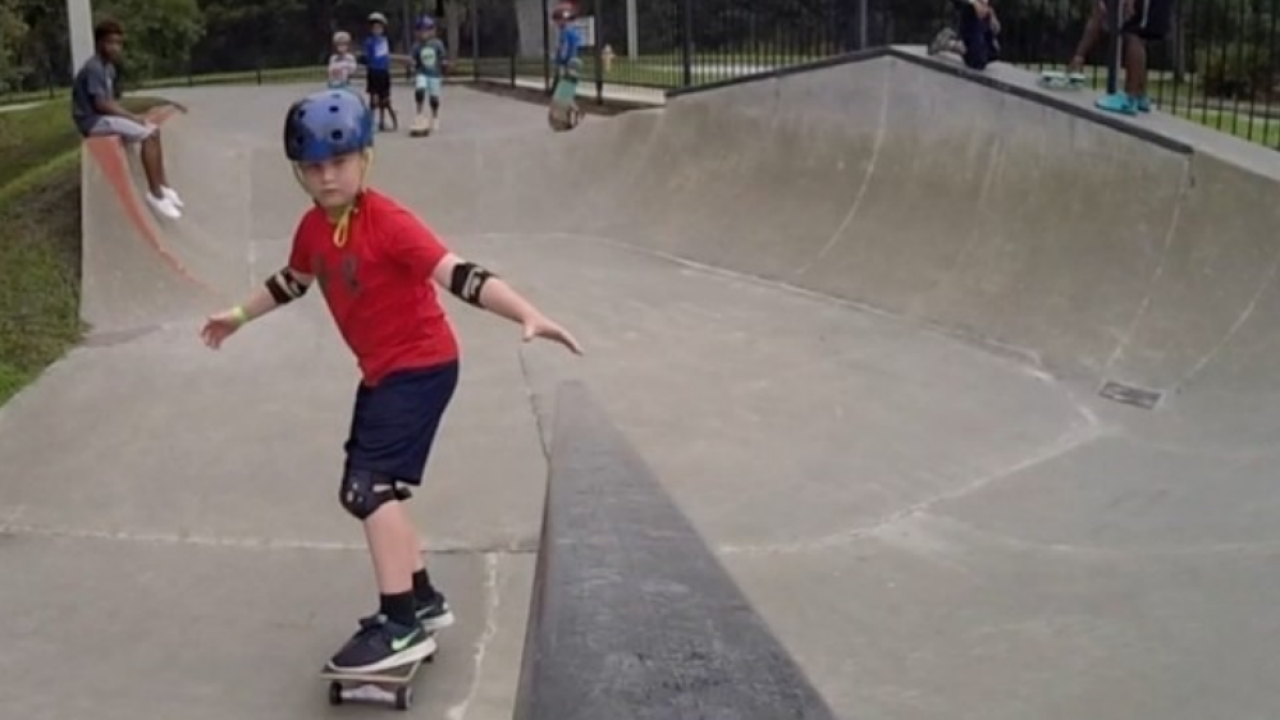 child skateboarding City of Tampa Parks & Rec