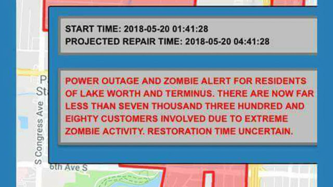 Lake Worth looks for answers after zombie alert sent to residents