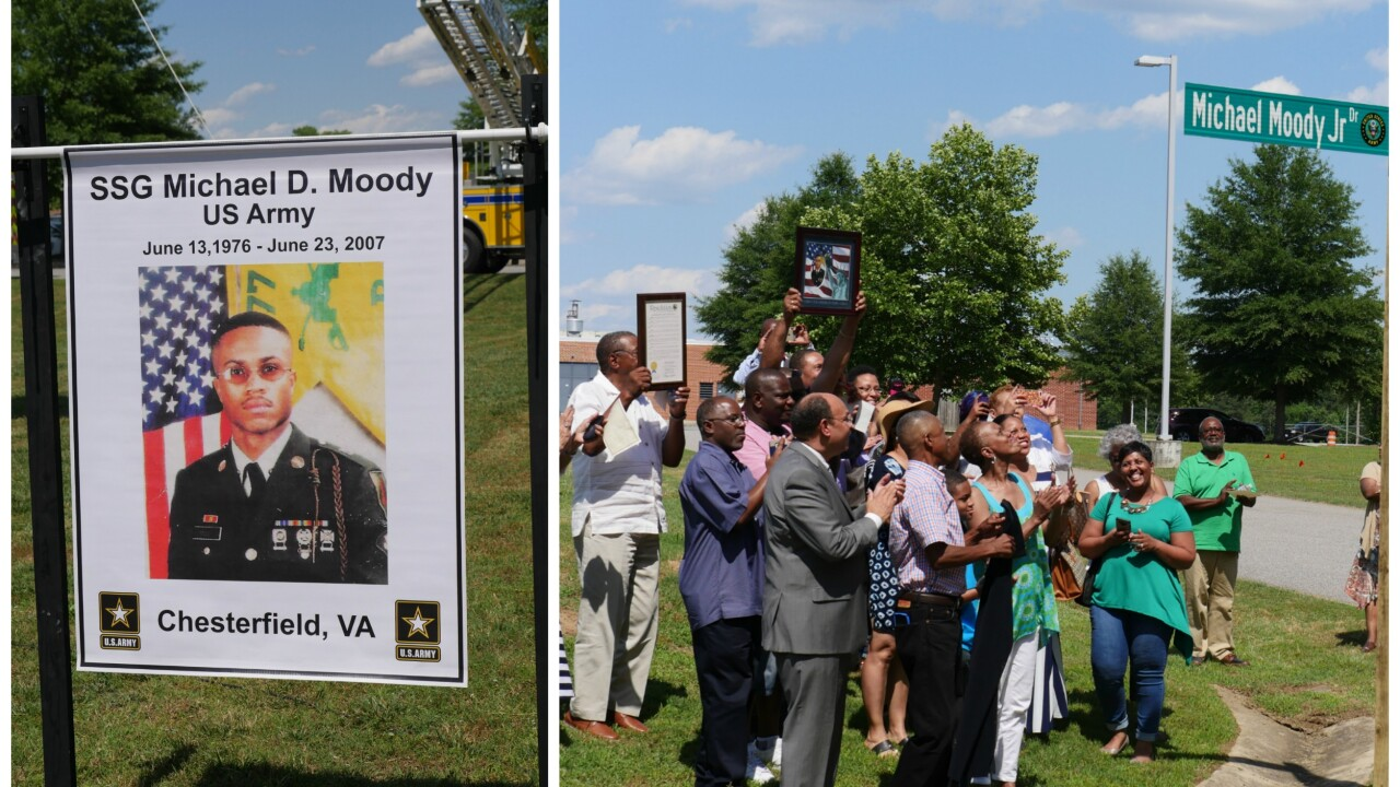 Army hero killed in Iraq honored outside Meadowbrook High School