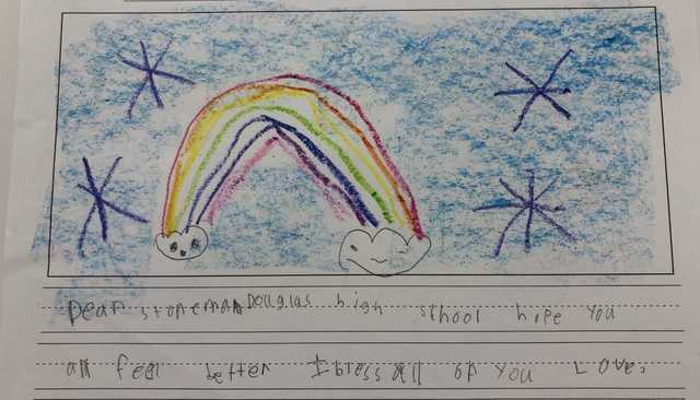 MSD alum prompts Jacksonville first graders to write inspiring notes to current students