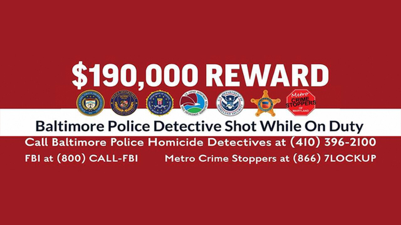 Gunman wanted after Baltimore detective shot