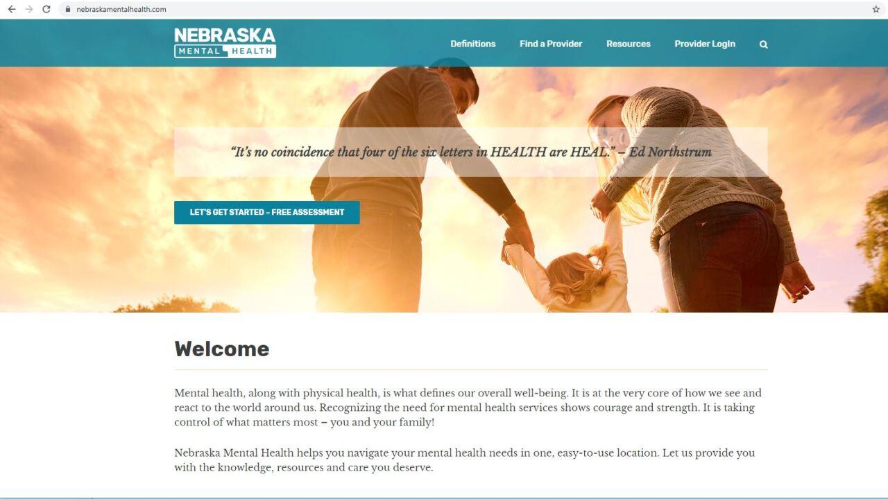 nebraska mental health website