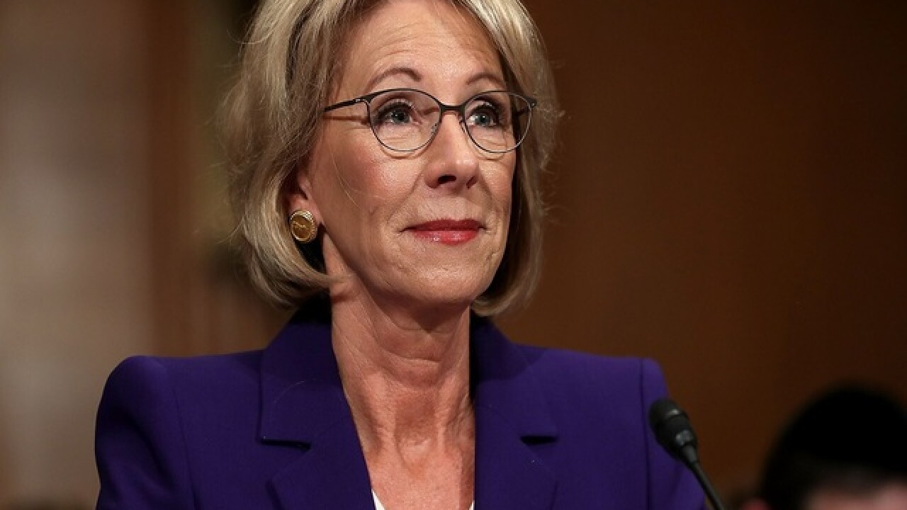 DeVos: Trump's leaked tape comments amount to sexual assault