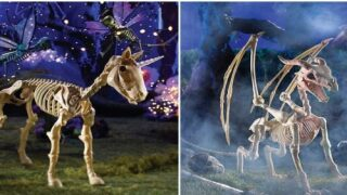 You Can Decorate Your Yard With Unicorn And Dragon Skeletons This Halloween