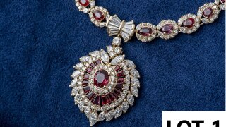 Necklace up for auction by state on Sept. 25, 2021