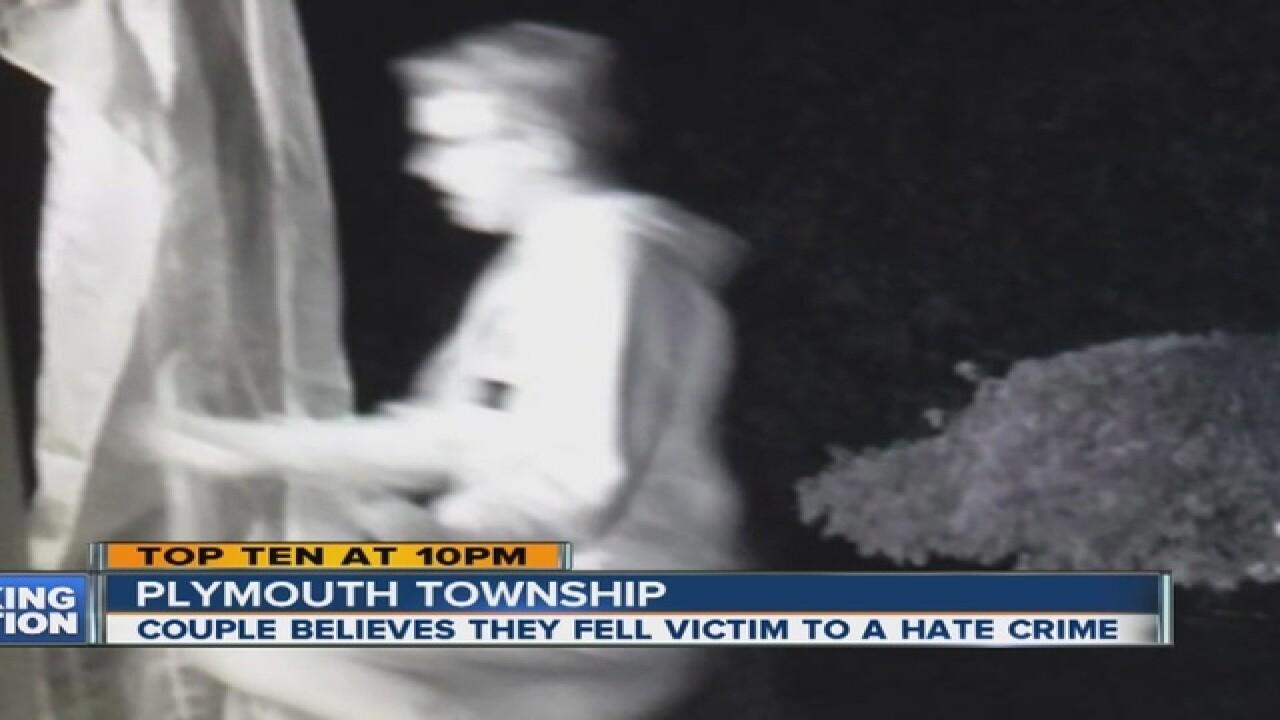 Couple says vandals targeted pride flag