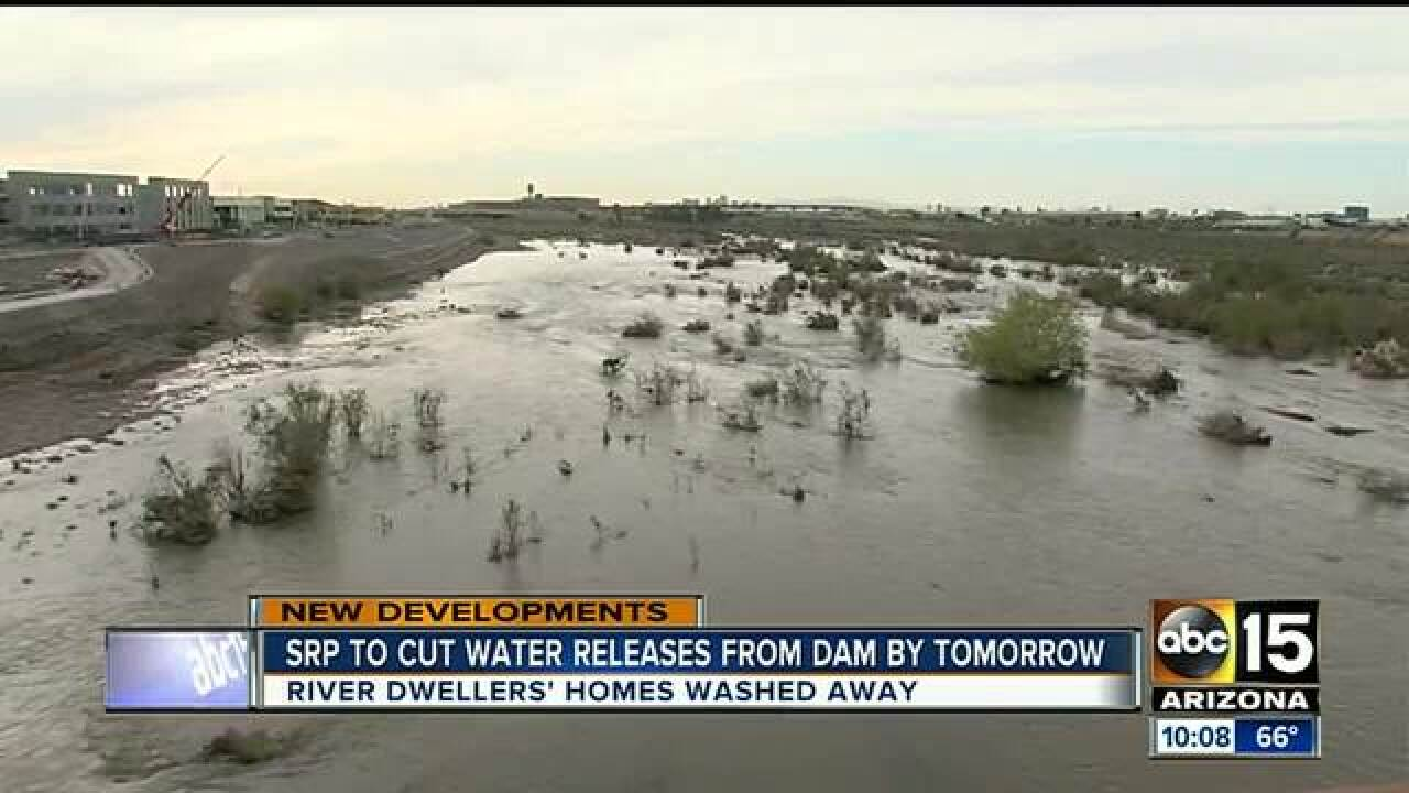 Salt River Project to reduce dam water flows