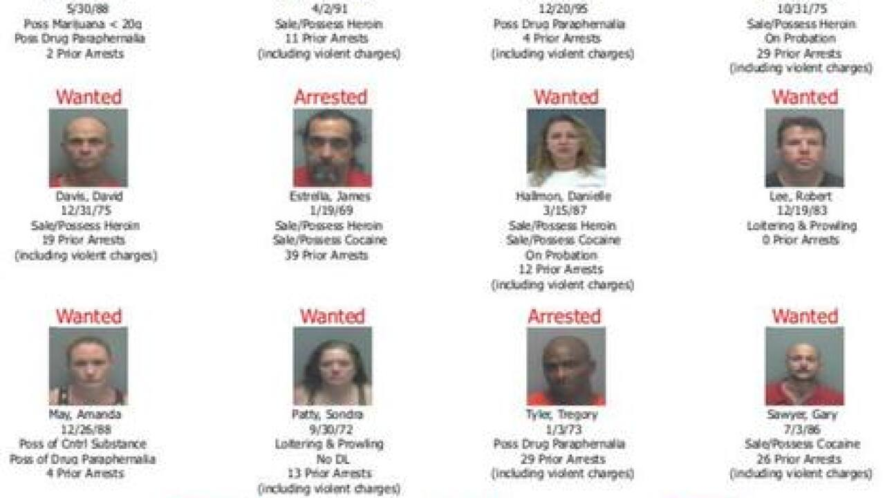 Nine arrested, six more wanted in North Fort Myers drug bust Thursday