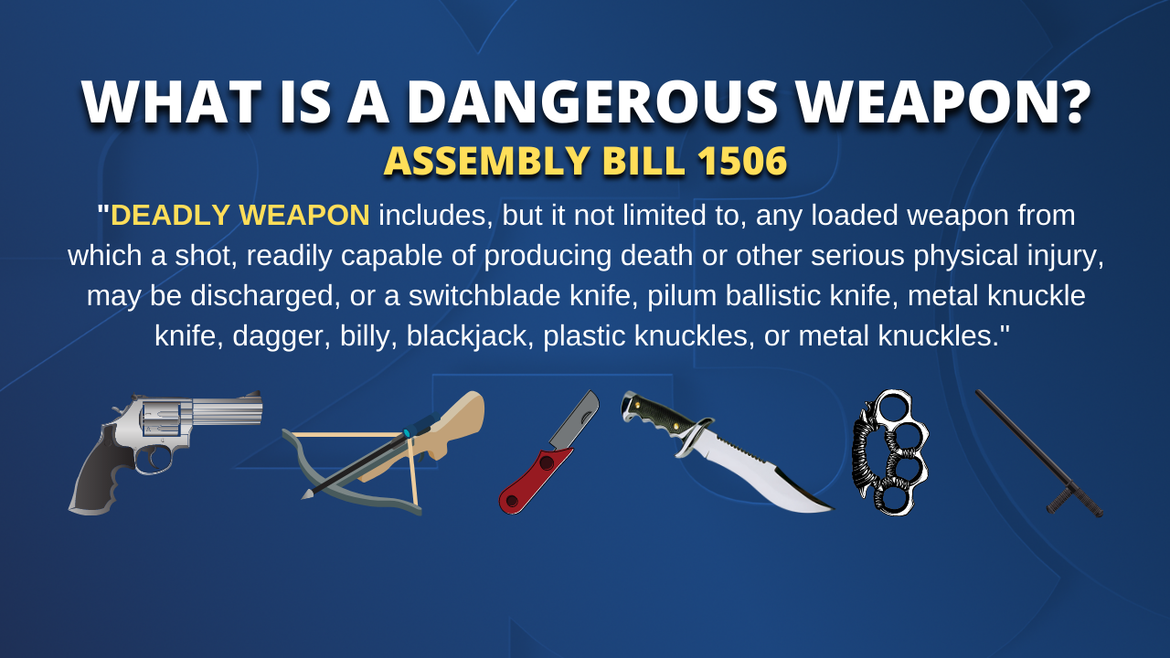 What is a dangerous weapon?