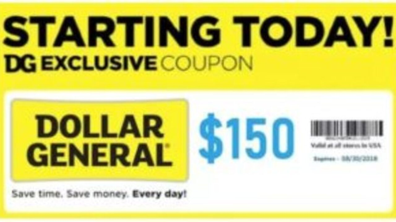Thousands share Dollar General $150 off coupon