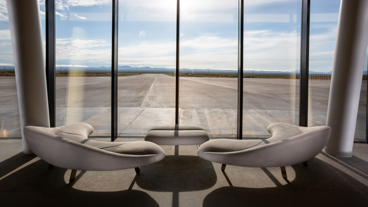 NEW: Viewing area of runway at Gateway to Space, Spaceport America, New Mexico