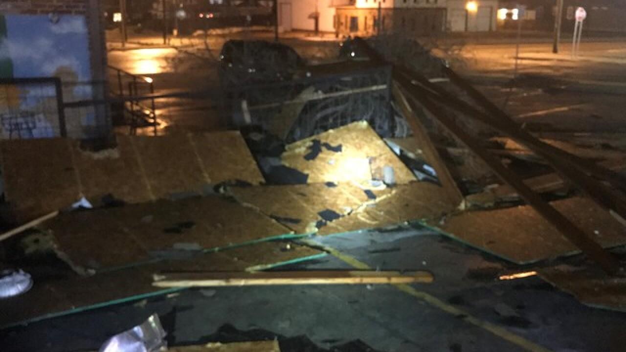 Possible small tornado hits midtown Tulsa